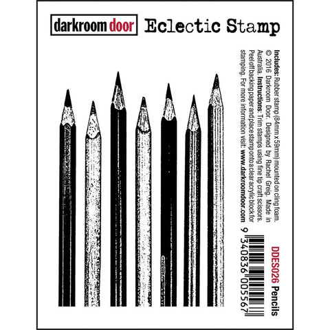 "Darkroom Door - Cling Stamps 3""x2"" - Pencils"