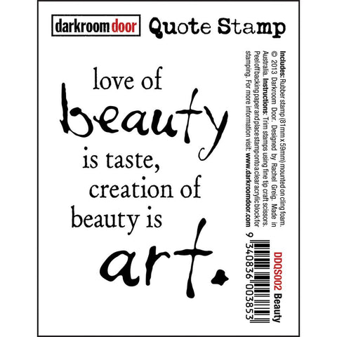 "Darkroom Door - Cling Stamps 3""x2"" - Beauty"
