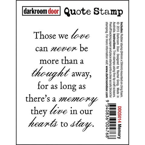 "Darkroom Door - Cling Stamps 3""x2"" - Memory"