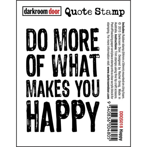 "Darkroom Door - Cling Stamps 3""x2"" - Happy"