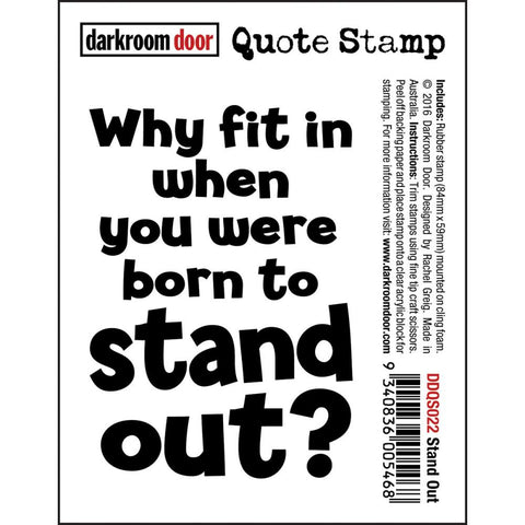"Darkroom Door - Cling Stamps 3""x2"" - Stand Out"