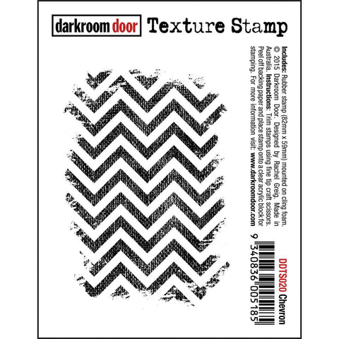 "Darkroom Door - Cling Stamps 3""x2"" - Chevron"