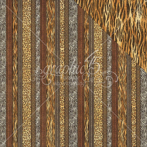 "Graphic 45 - Safari Adventure Double-Sided Cardstock 12""X12"" - Exotic Patterns"