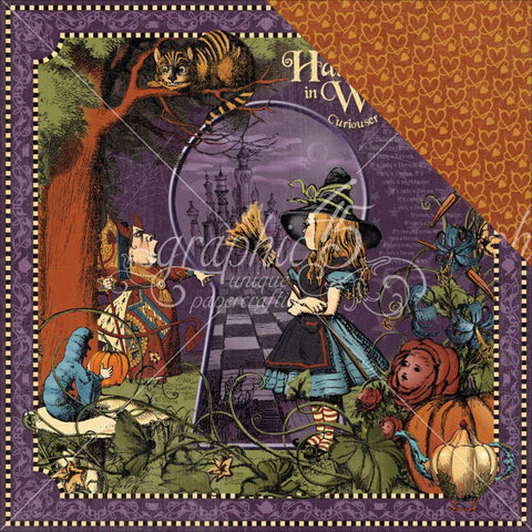 "***New Item*** Graphic 45 - Hallowe'en In Wonderland Double-Sided Cardstock 12""X12"" - Wonderland"