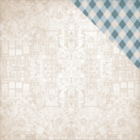 "Kaisercraft - Barber Shoppe Double-Sided Cardstock 12"" x 12"" - Aftershave"