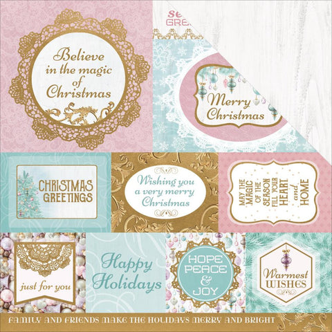 "Kaisercraft - Christmas Wishes Double-Sided Cardstock 12"" x 12"" - Seasons Greetings"