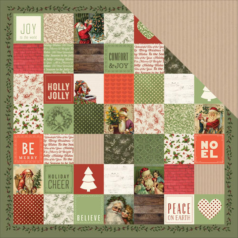 "Kaisercraft - Silent Night Double-Sided Cardstock 12"" x 12"" - Dec 25th"