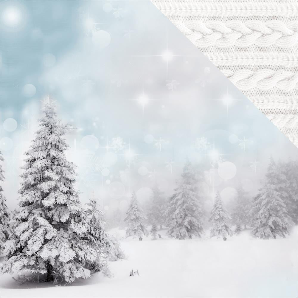"Kaisercraft - Frosted Double-Sided Cardstock 12"" x 12"" - Wintery"