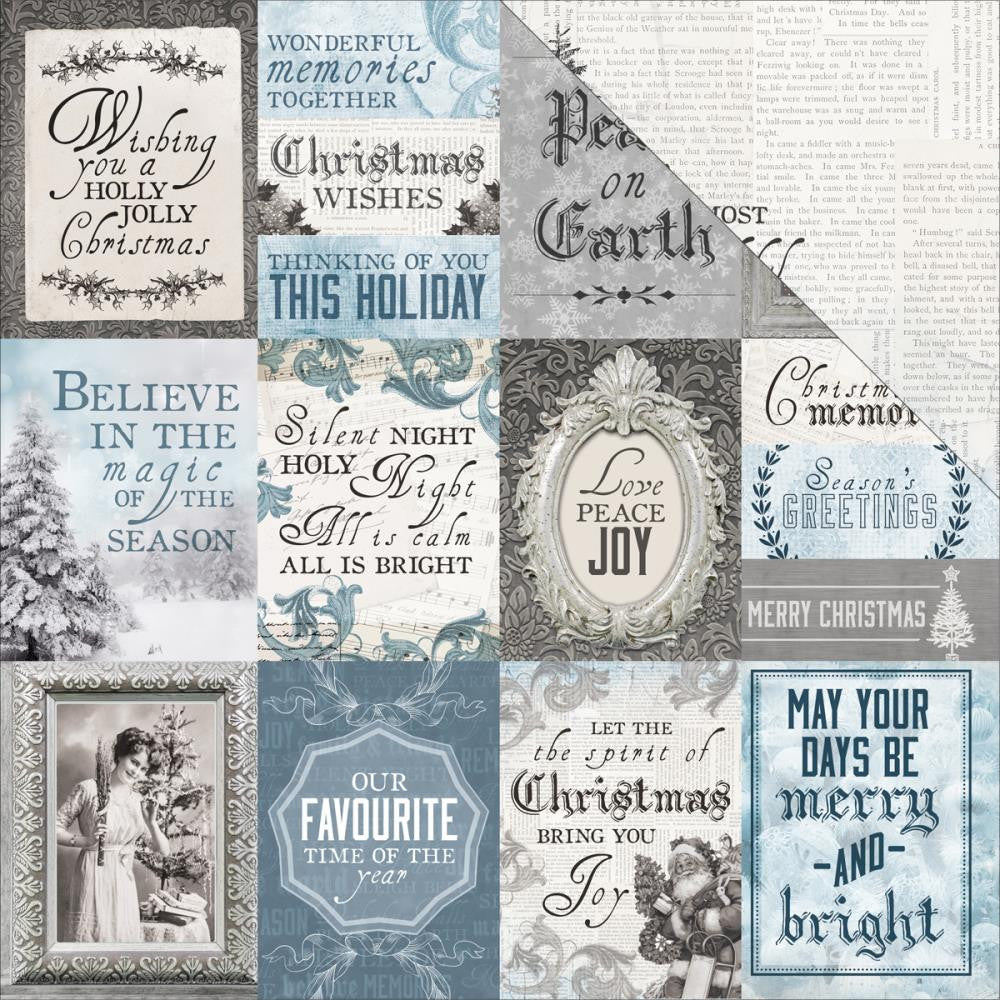 "Kaisercraft - Frosted Double-Sided Cardstock 12"" x 12"" - Polar"