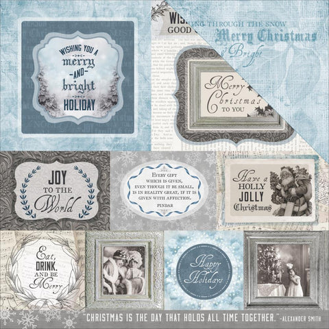 "Kaisercraft - Frosted Double-Sided Cardstock 12"" x 12"" - Icy"
