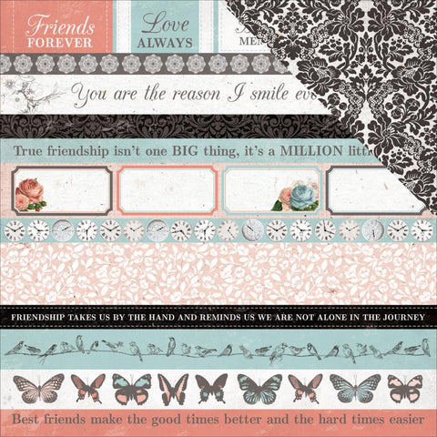 "Kaisercraft - Ooh La La Double-Sided Cardstock 12"" x 12"" - Au Revoir"