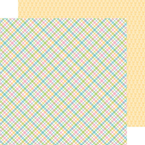 "Doodlebug - Kitten Smitten Double-Sided Cardstock 12"" x 12"" - Pastel Plaid"