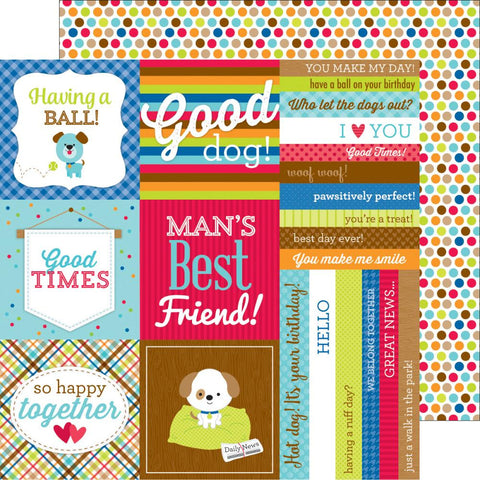 "Doodlebug - Puppy Love Double-Sided Cardstock 12"" x 12"" - See Spot Run"