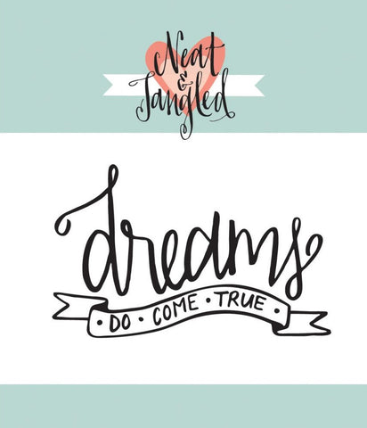 "Neat & Tangled - 3"" x 2"" Clear Stamps - Dreams"