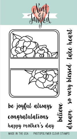 Neat & Tangled - Photopolymer Clear Stamps - Gardenia Blooms Journaling Card