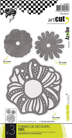 ***New Item*** Carabelle Studio - Carabelle Art Cut Die - Flowers, 3/Pkg
