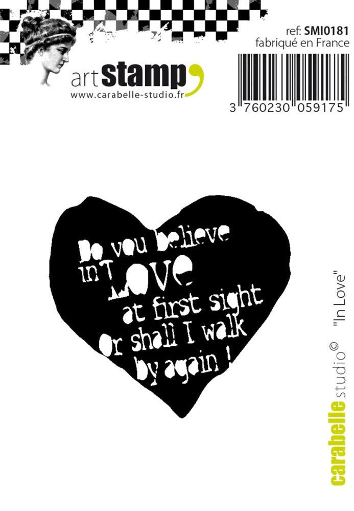 "Carabelle Studio - Cling Stamp Small 2"" x 2.75"" - In Love"