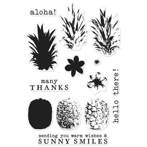Hero Arts, Color Layering Clear Stamps - Pineapple
