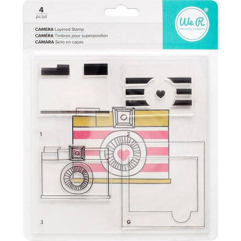 We R Memory Keepers, Layered Stamps - Camera