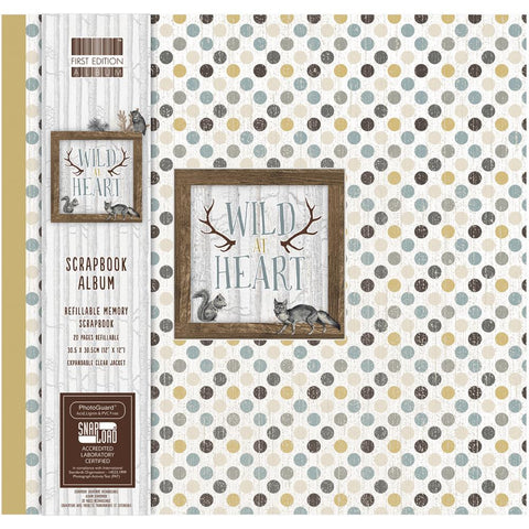 "First Edition - Scrapbook Album 12"" x 12"" - Wild At Heart"