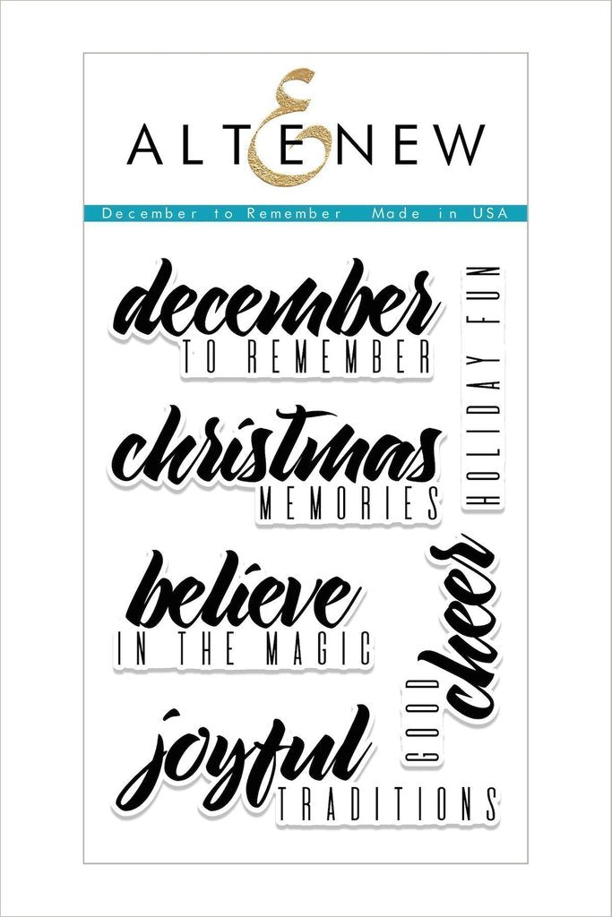 Altenew - December to Remember Stamp Set