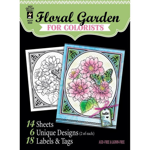 "Hot Off The Press, Colorist Coloring Book 5""X6"" - Floral Garden"