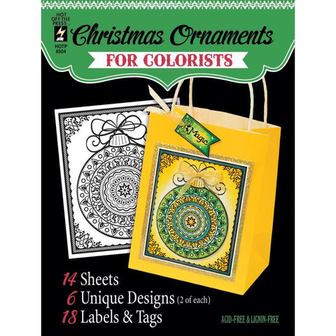 "Hot Off The Press, Colorist Coloring Book 5""X6"" - Fancy Christmas"