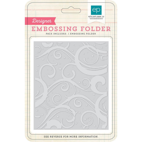 "***New Items*** Echo Park Paper, Embossing Folder, 5"" X 5.875"" - Winter Chill"
