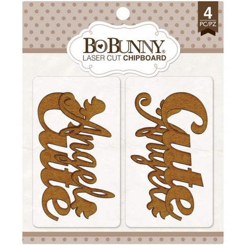 ***New Items*** Bo Bunny, Essentials Laser Cut Chipboard - Cute