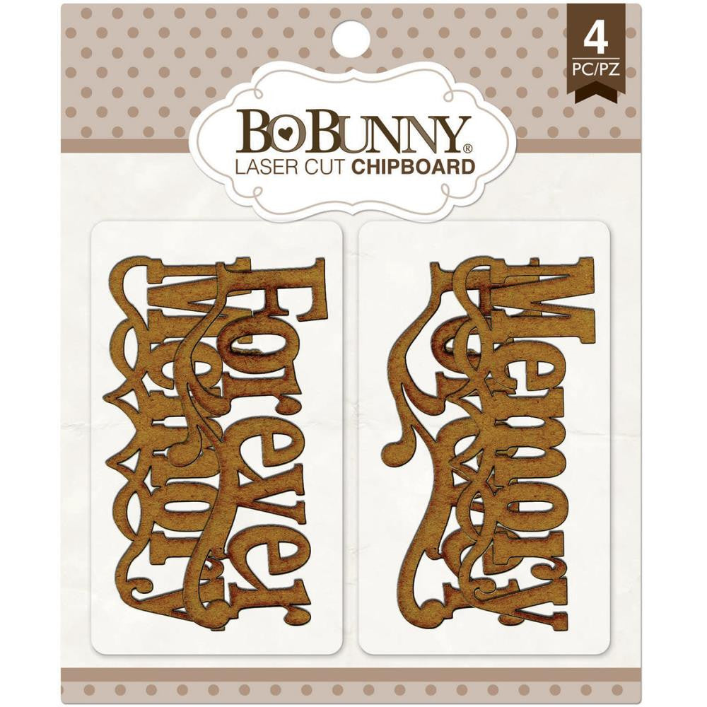 Bo Bunny, Essentials Laser Cut Chipboard - Memories