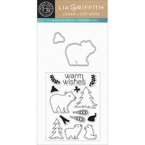 "***New Items*** Hero Arts, Cut-Outs By Lia, 4""x4"" - Winter Bear"