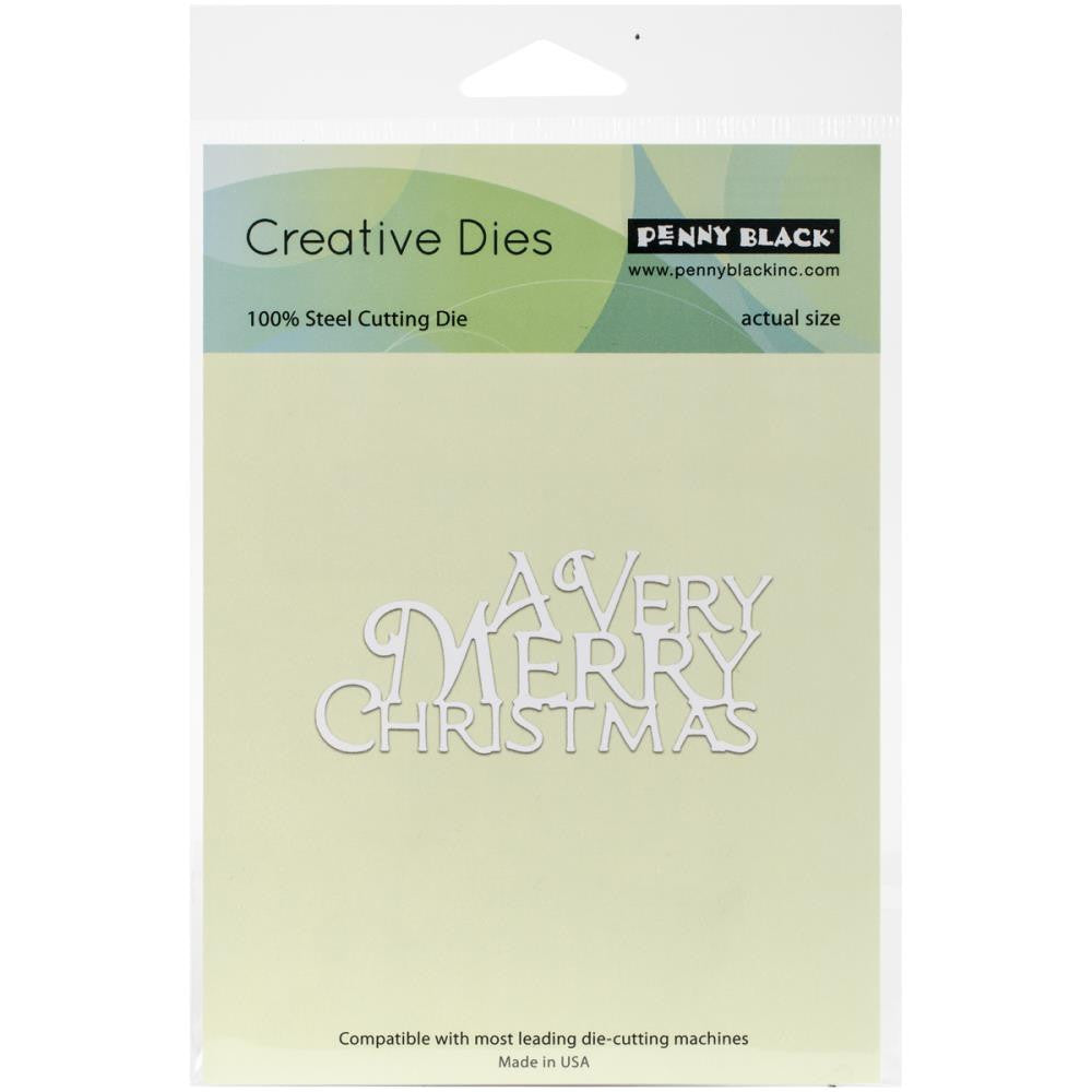 "Penny Black - Creative Dies - A Very Merry  3.3""X1.5"""