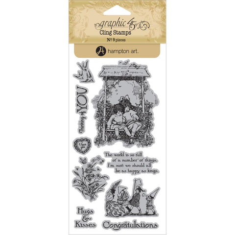 Hampton Art, Graphic 45 Children's Hour Cling Stamps - One