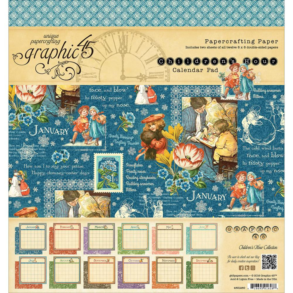 "Graphic 45 - Calendar Pad 8""X8"" - Children's Hour"