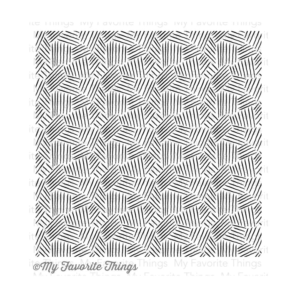 "My Favorite Things - Background Cling Rubber Stamp, 6""X6"" - Etched Tribal"