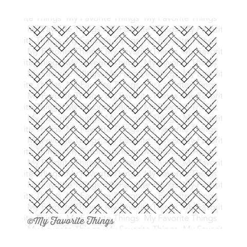 "My Favorite Things - Background Cling Rubber Stamp, 6""X6"" - Primitive Chevron"