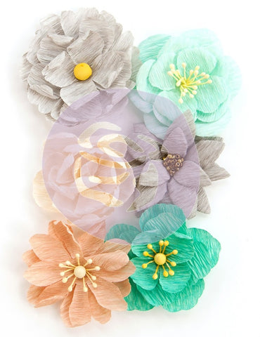 Prima Marketing - Zella Teal Flowers - Made With Love