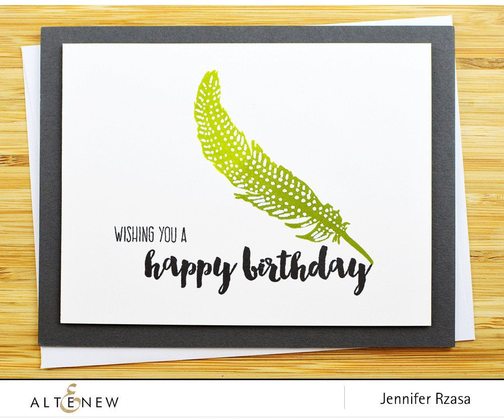 "Altenew - 4"" x 6"" Stamp Set - Faithful Feather"