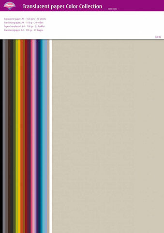 Pergamano - Parchment Paper - Assorted Paper Color Collection (23 sheets)