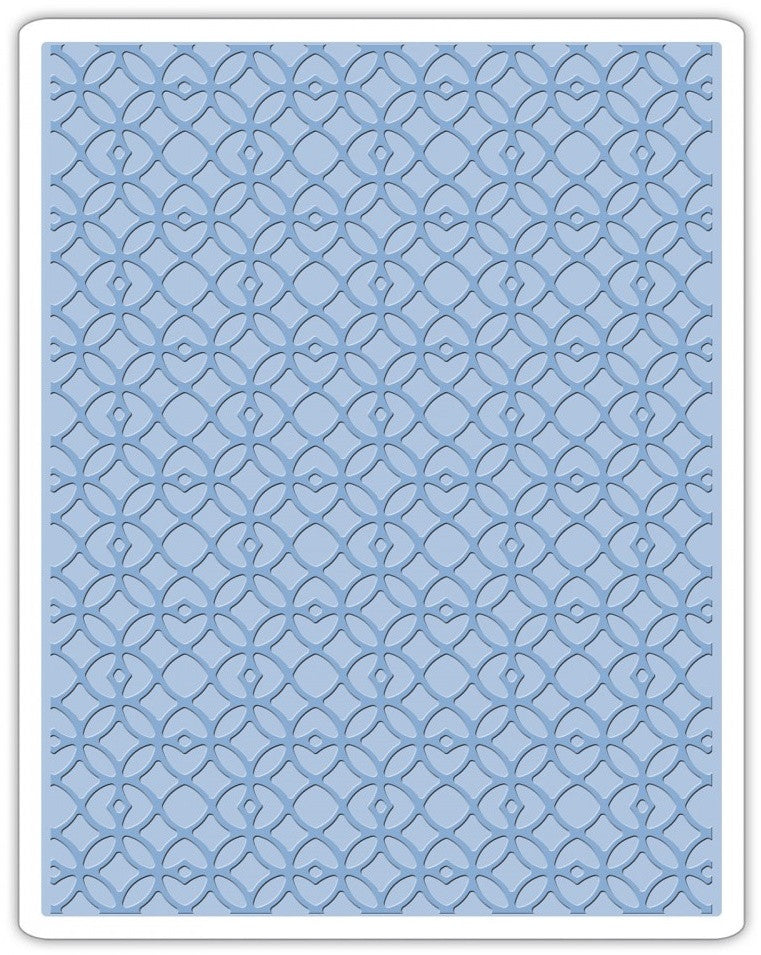 Sizzix - Texture Fades A2 Embossing Folder - Latticework (available 3/7)