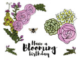 Sizzix - Framelits Die Set with Stamps By Jen Long - Blooming Florals