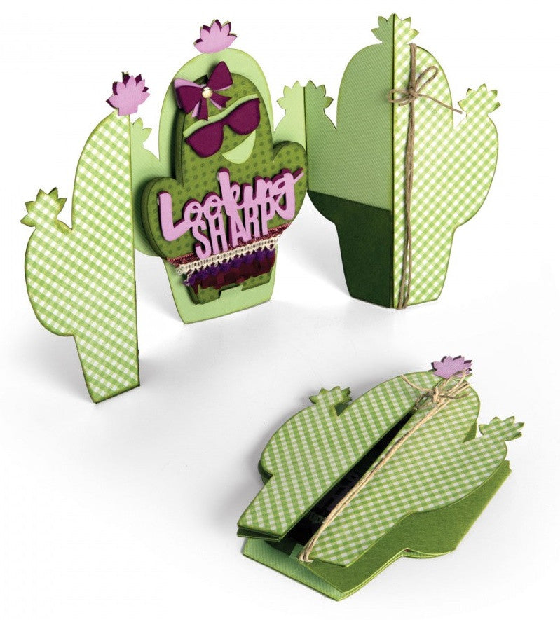 Sizzix - Thinlits Die Set By Jen Long - Cactus Fold-A-Long Card