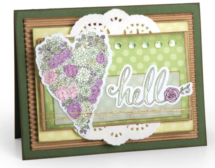 Sizzix - Coloring Stickers By Jen Long - In Bloom