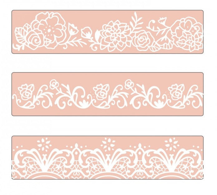Sizzix - Textured Impressions Embossing Folder By David Tutera - Border Set