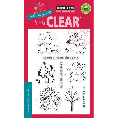 Hero Arts, Color Layering Clear Stamps - Fall Trees