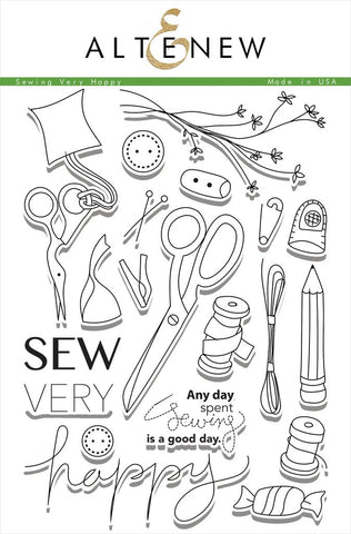 "Altenew - 6"" x 8"" Stamp Set - Sew Very Happy"