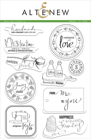 "Altenew - 6"" x 8"" Stamp Set - Sewing Labels"