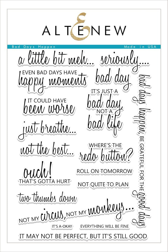 Altenew - Bad Days Happen Stamp Set