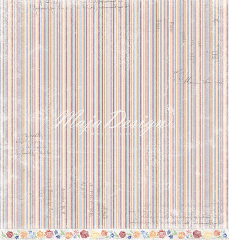 "Brand New Release - Limited Edition - Maja Designs ""NYHAVN"" Collection - Like a Colourful Bouquet 12"" x 12"" double sided sheet"