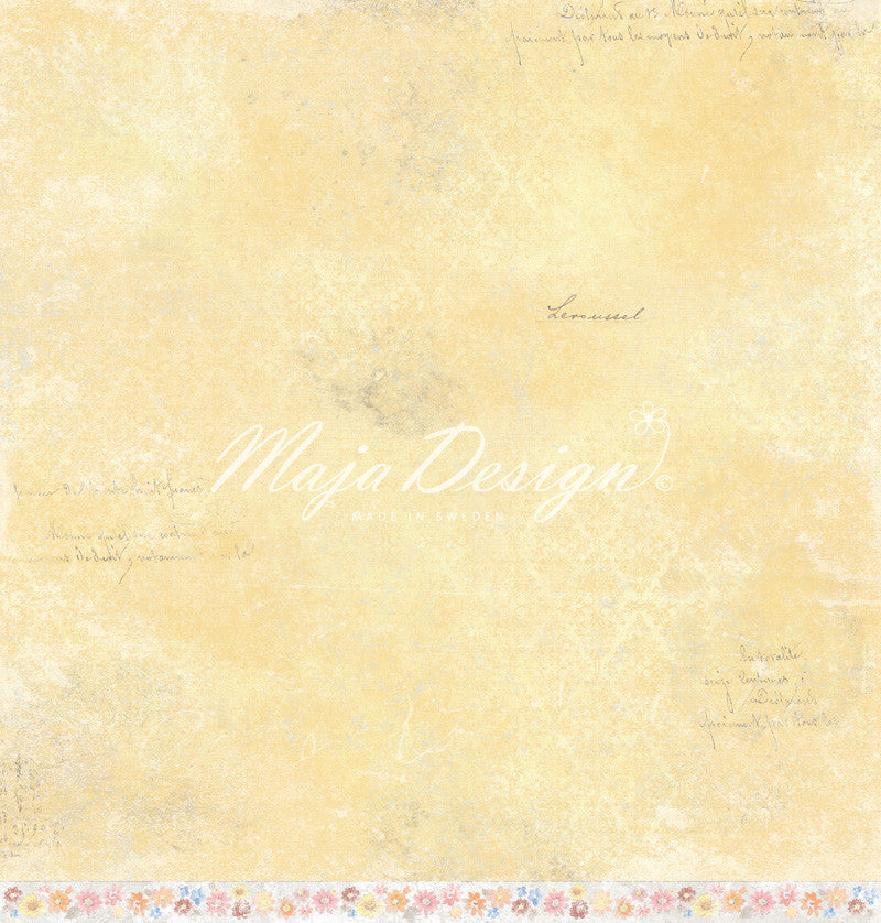 "Brand New Release - Limited Edition - Maja Designs ""NYHAVN"" Collection - A Dockside in Bloom 12"" x 12"" double sided sheet"